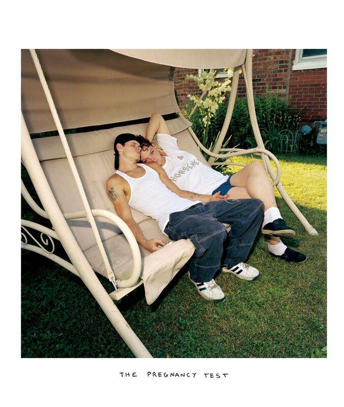 Chris Verene, 'PREGNANCYTEST', 2002, Photography, Chromogenic print with handwritten caption in oil, Postmasters Gallery