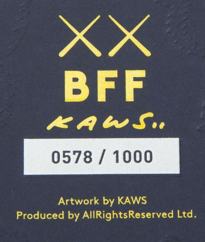 KAWS, 'BFF (Blue)', 2016, Textile Arts, Stuffed plush figure, Julien's Auctions