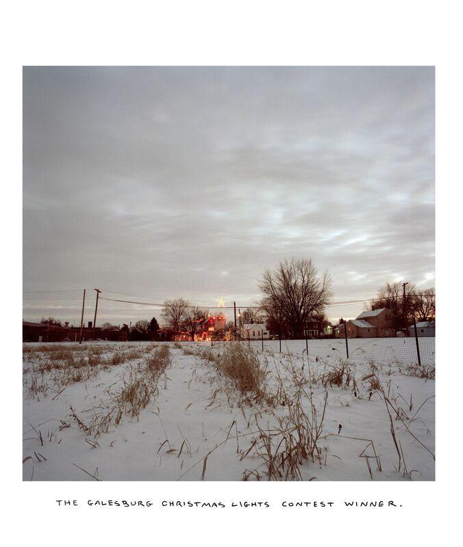 Chris Verene, 'Christmas Lights Contest Winner', 1995, Photography, Chromogenic print with handwritten caption in oil, Postmasters Gallery