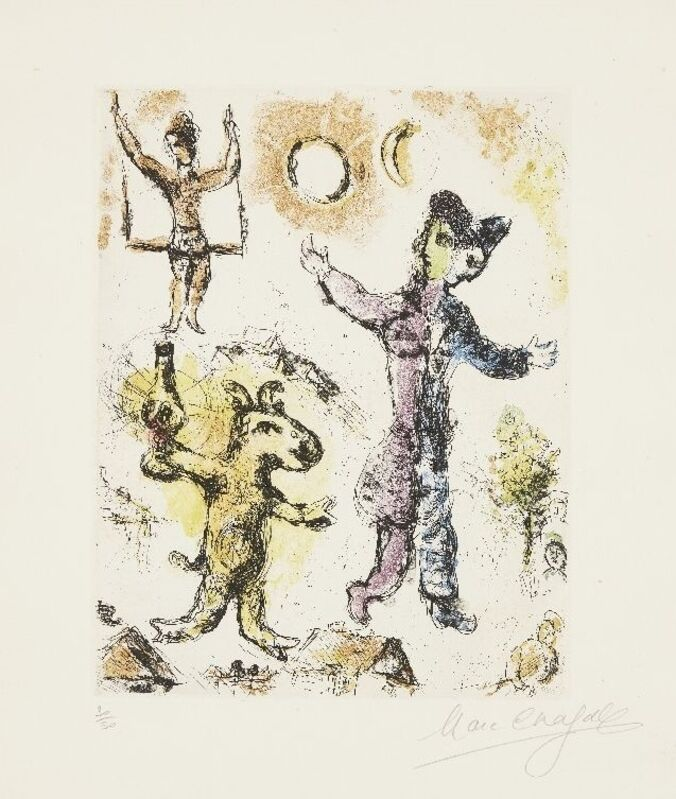 Marc Chagall, 'La Reve de L'Ane [Cramer 63]', 1968, Print, Etching with aquatint in colours on wove, Roseberys