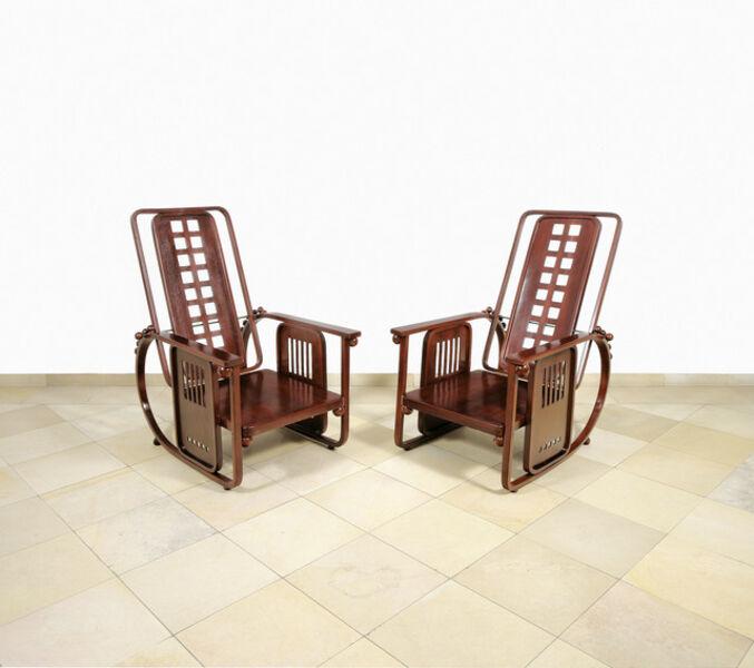 Josef Hoffmann, 'Two Seating Machines', ca. 1905