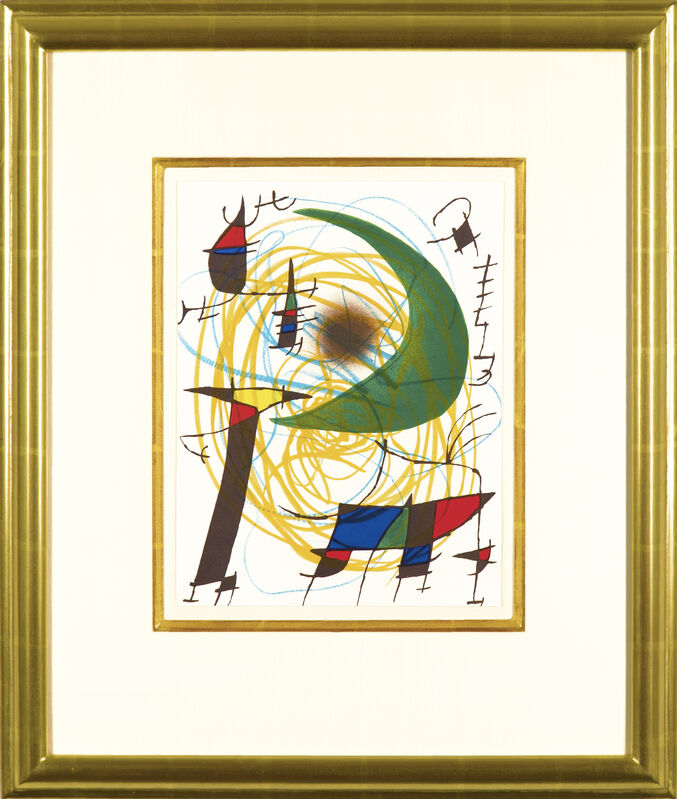 Joan Miró, 'Joan Miró Lithographies Volume I: Plate VII', 1972, Print, Color lithograph on wove paper, Galerie Michael