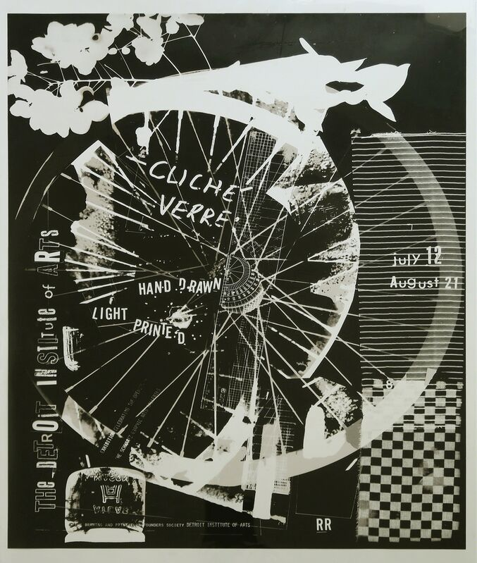 Robert Rauschenberg, 'Cliché Verre', 1980, Print, Offset lithograph printed in black and brown on mylar, Alternate Projects