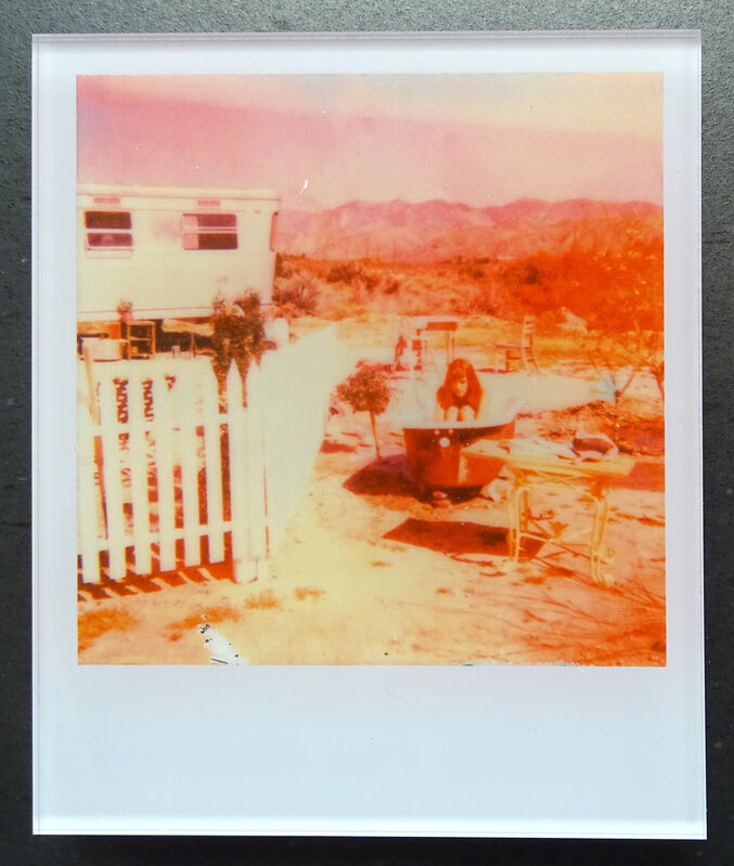 Stefanie Schneider, ''The Girl II'  (The Girl behind the White Picket Fence)', 2013, Photography, Lambda digital Color Photographs based on a Polaroid, sandwiched in between Plexiglass, Instantdreams