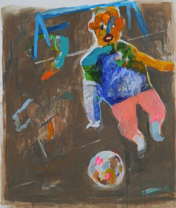 Yaser Safi, 'Goal Keeper', 2014, Painting, Acrylic on Canvas, Mark Hachem Gallery