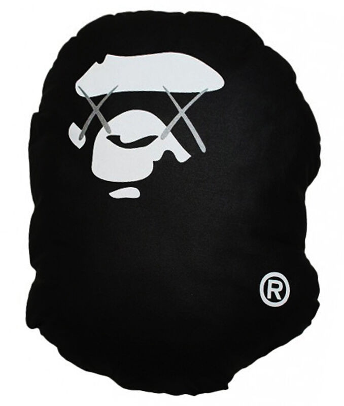 KAWS, 'A Bathing Ape pillow (screenprint edition of 100)', 2001, Print, Screenprint on cotton  with polyester fill, EHC Fine Art Gallery Auction