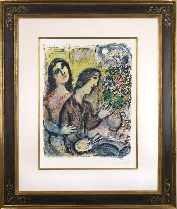 Marc Chagall, 'La Femme du Peintre', 1971, Print, Color lithograph on Arches wove paper, Galerie Michael