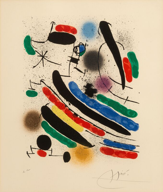 Joan Miró, 'Untitled, from Miro Lithographs I', 1972, Print, Lithograph in colors on Arches paper, Heritage Auctions