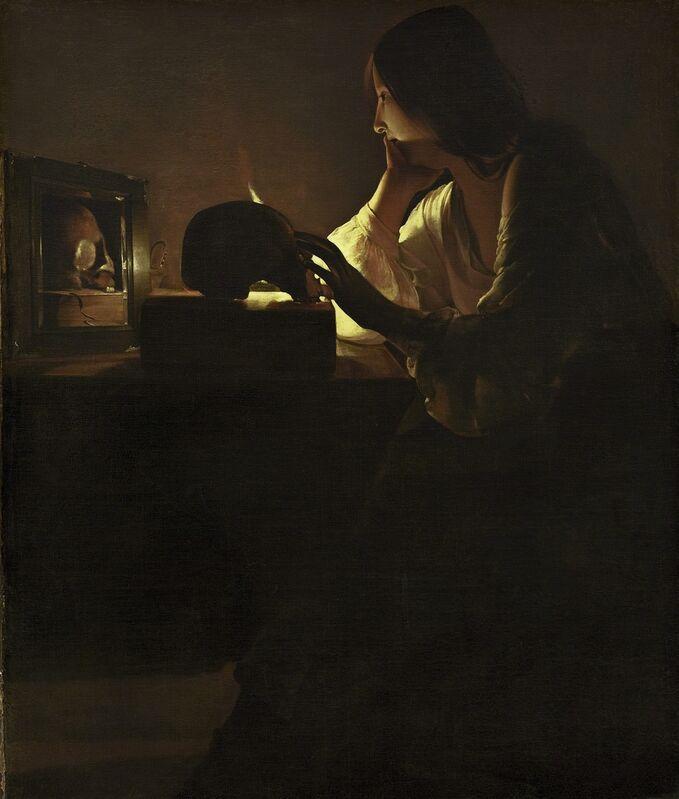 Georges de La Tour, 'The Repentant Magdalen', ca. 1635-40, Painting, Oil on canvas, National Gallery of Art, Washington, D.C.