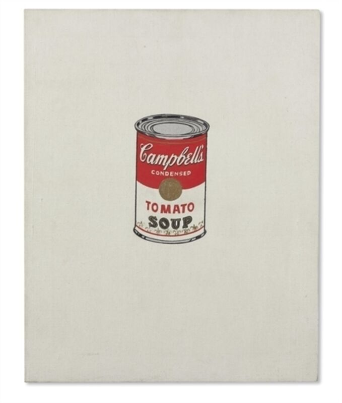 Andy Warhol, 'Small Campbell's Soup Can (Tomato) [Ferus Type]', Casein, metallic paint and graphite on canvas, Christie's