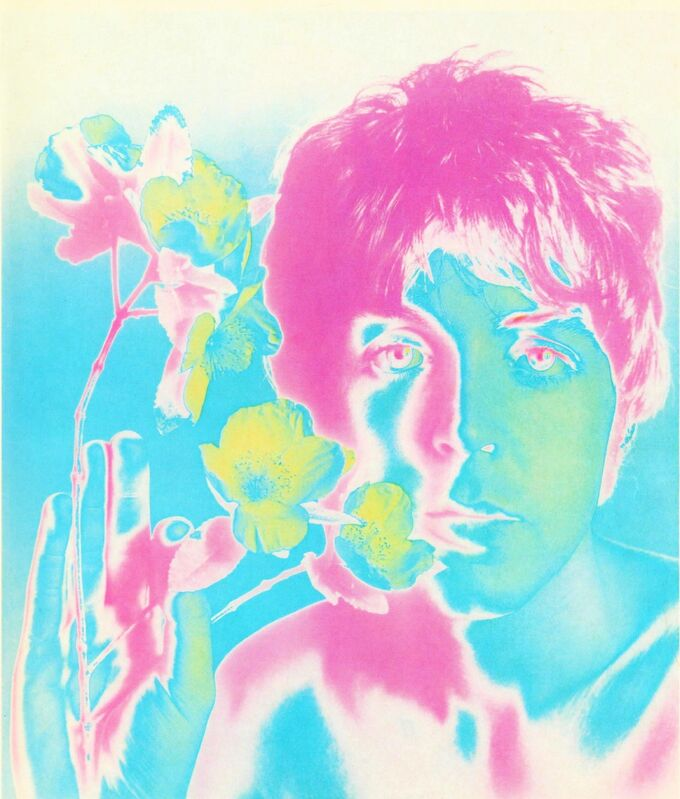 Richard Avedon, 'Paul McCartney', 1967, Photography, Paper on canvas, AYNAC Gallery