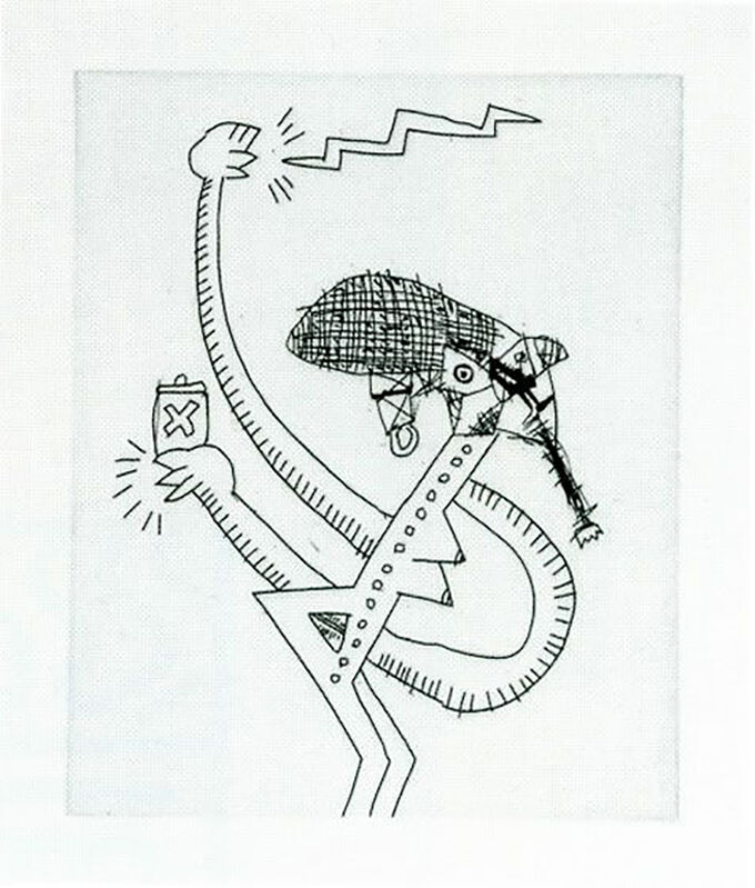 Keith Haring, 'Untitled (with Sean Kalish) I', 1989, Print, Etching on paper, Taglialatella Galleries