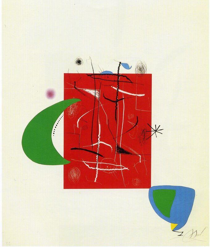 Joan Miró, 'Pi de Formentor. Mon cor estima un...', 1976, Print, Lithogaph, Galeria Joan Gaspar