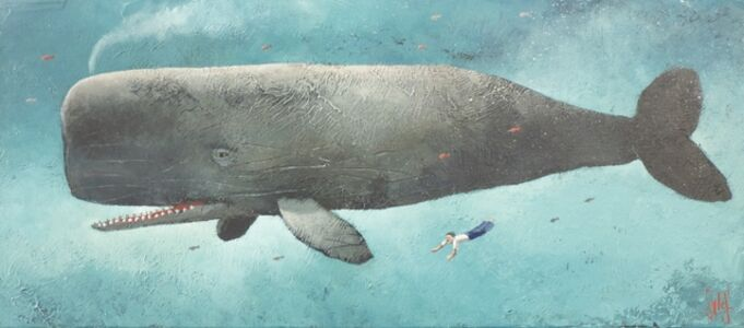 Sylvain Lefebvre, 'S.D.W n°12 : Lucien diving by the whale', 2020