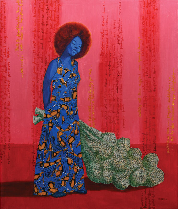 Prudence (Prudie) Chimutuwah, 'Tsapo III.', 2021, Painting, Acrylic with collage and varnish on canvas, Peter Harrington Gallery