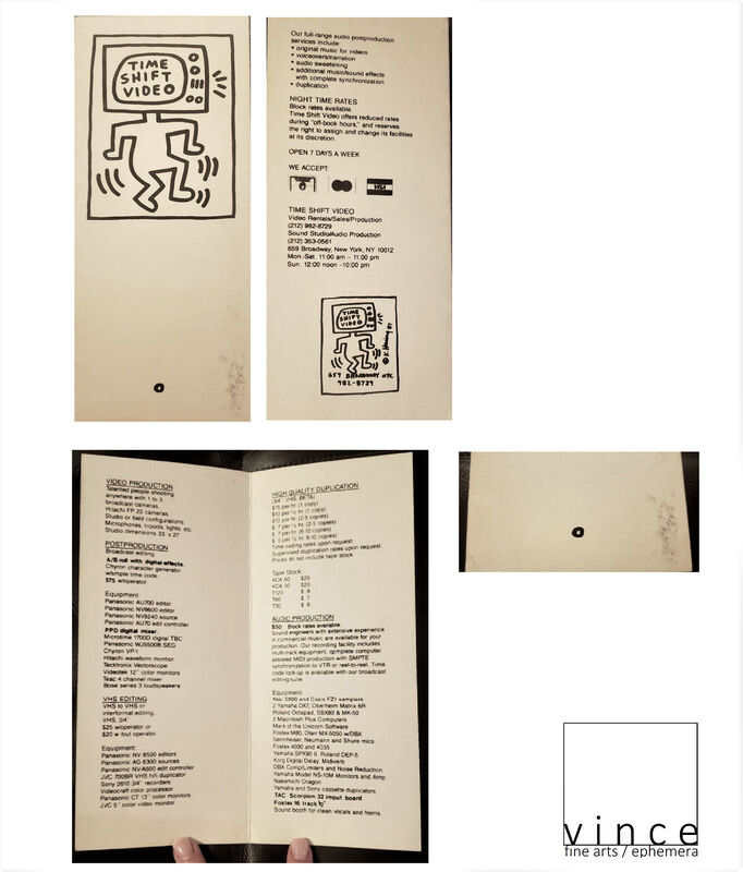 """Keith Haring, '""""Time Shift Video"""", Store Brochure (graphics by Haring), Card Stock, RARE', 1987, Ephemera or Merchandise, Print on paper, VINCE fine arts/ephemera"""