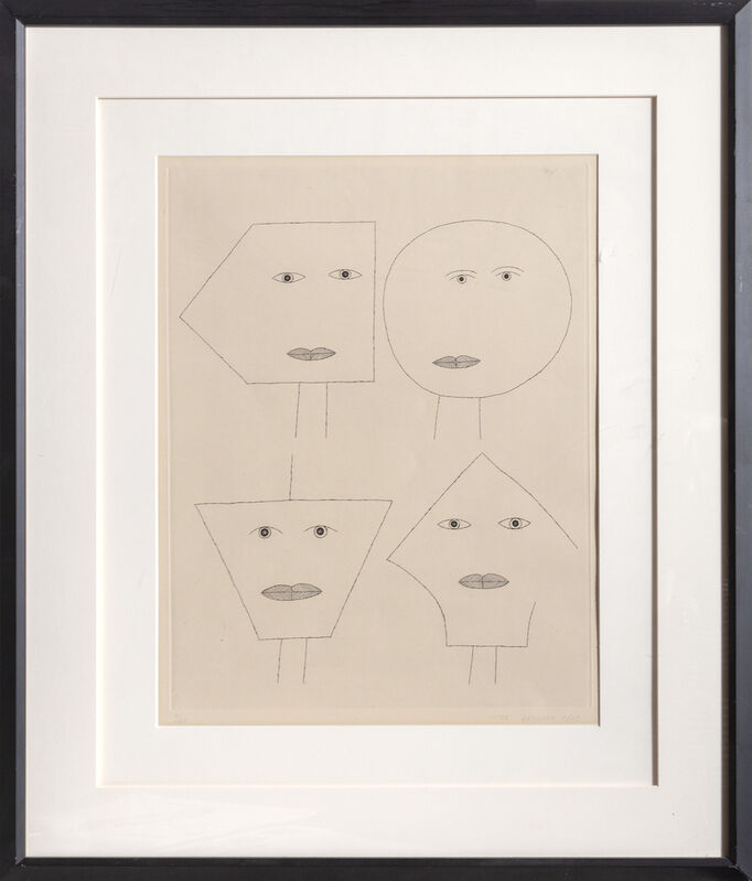 Victor Brauner, 'Code of Faces I', 1962, Print, Etching, RoGallery