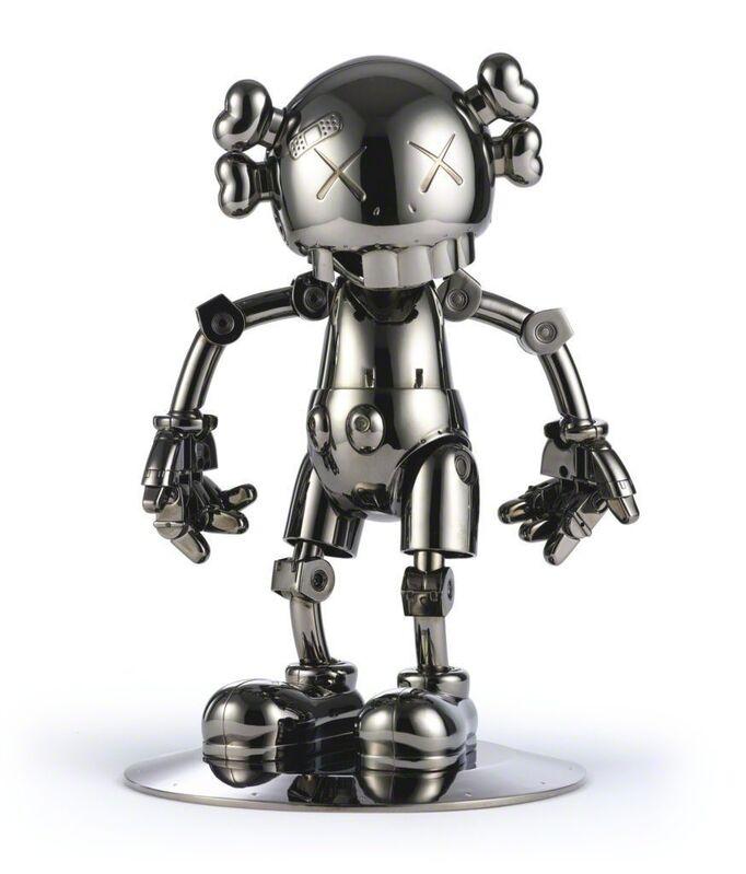 KAWS, 'No Future Companion (Black Chrome)', 2009, Sculpture, Metallized plastic, Lougher Contemporary