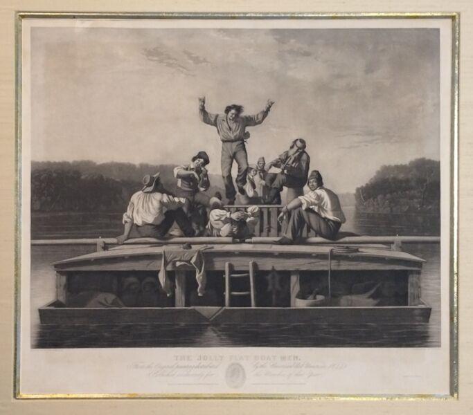 George Caleb Bingham, 'The Jolly Flatboatmen', 1846