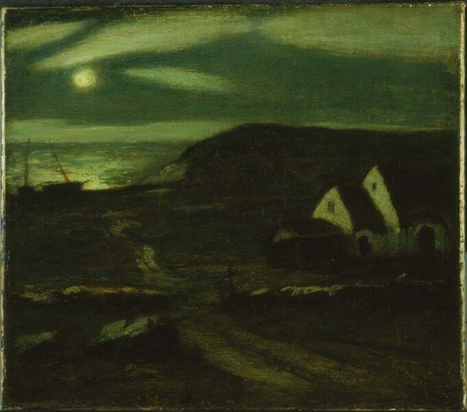 Albert Pinkham Ryder, 'Fisherman's Hut'