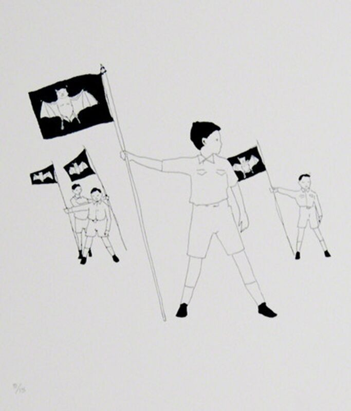 Marcel Dzama, 'Dracula Boy Scouts', 2005, Print, Lithograph, Caviar20