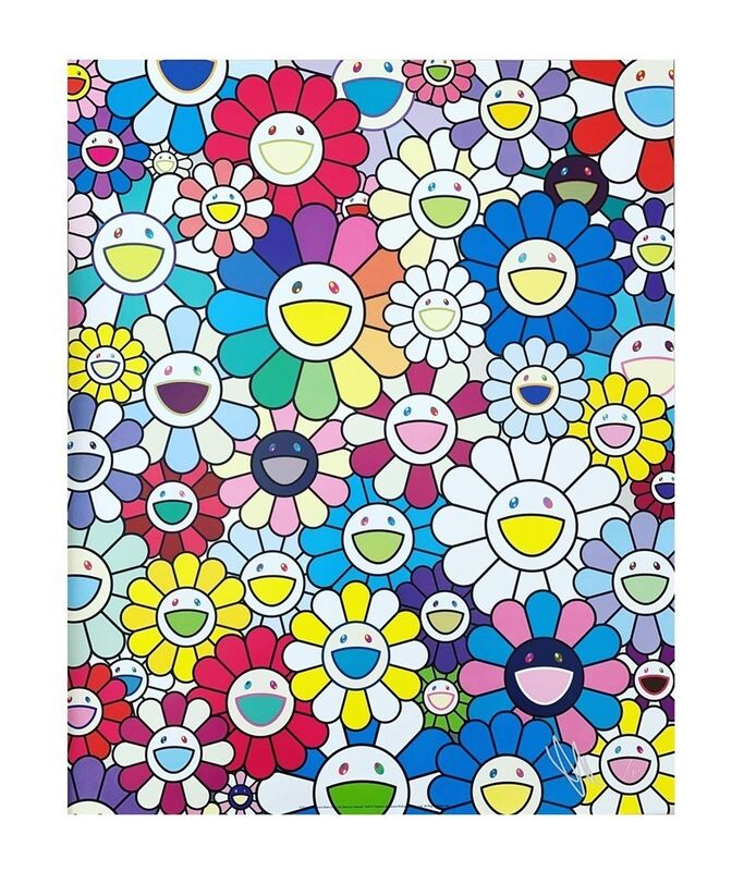 Takashi Murakami, 'Field of flowers seen from stairway to heaven', 2019, Print, Offset Print, Viacanvas