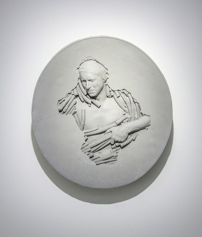 Recycle Group, 'Laocoön', 2015, Sculpture, Polyurethane rubber, satellite dish, metal, Richard Taittinger Gallery