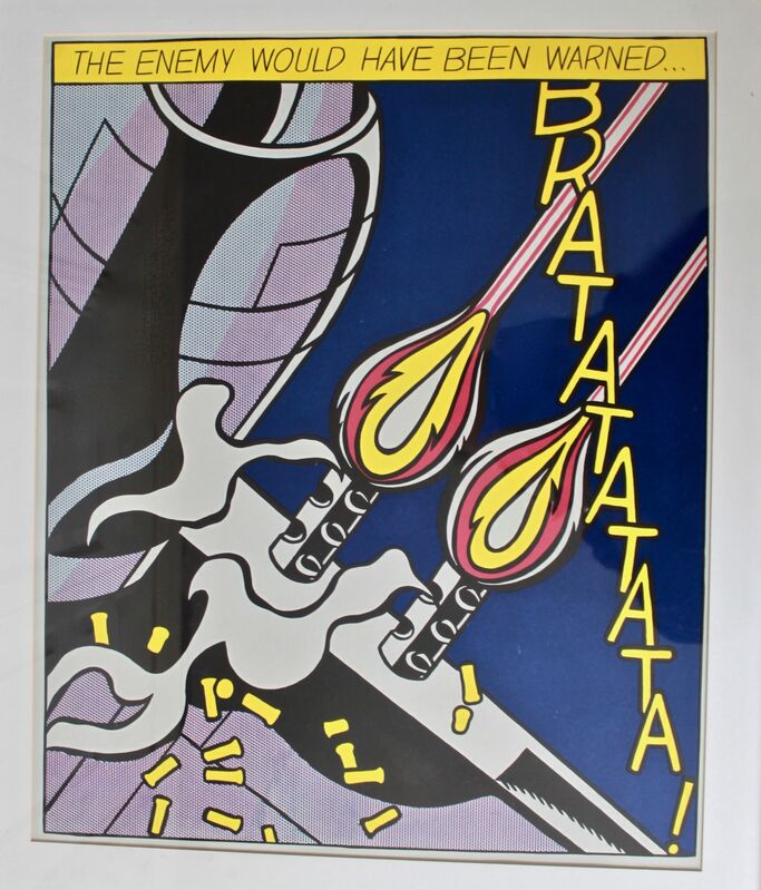Roy Lichtenstein, 'As I Opened Fire', 1964, Print, Triptych print, Artsy x Capsule Auctions