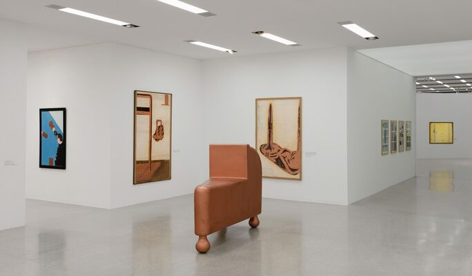 Bruno Gironcoli. Shy at Work, installation view