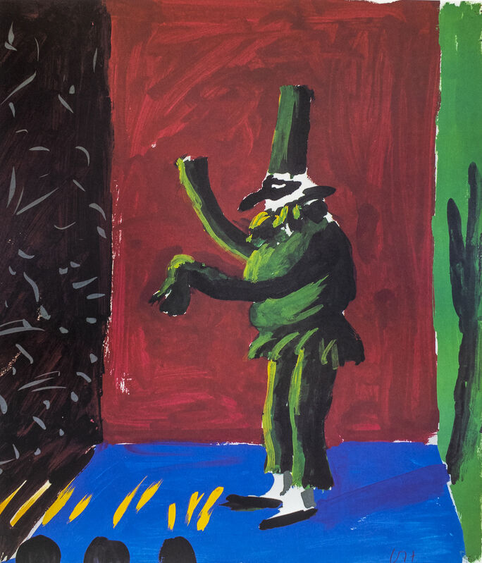 David Hockney, 'Young Playwrights Festival 1982 (Detail from Pulcinella with Applause 1980)', 1982, Posters, Offset lithograph on paper, Petersburg Press