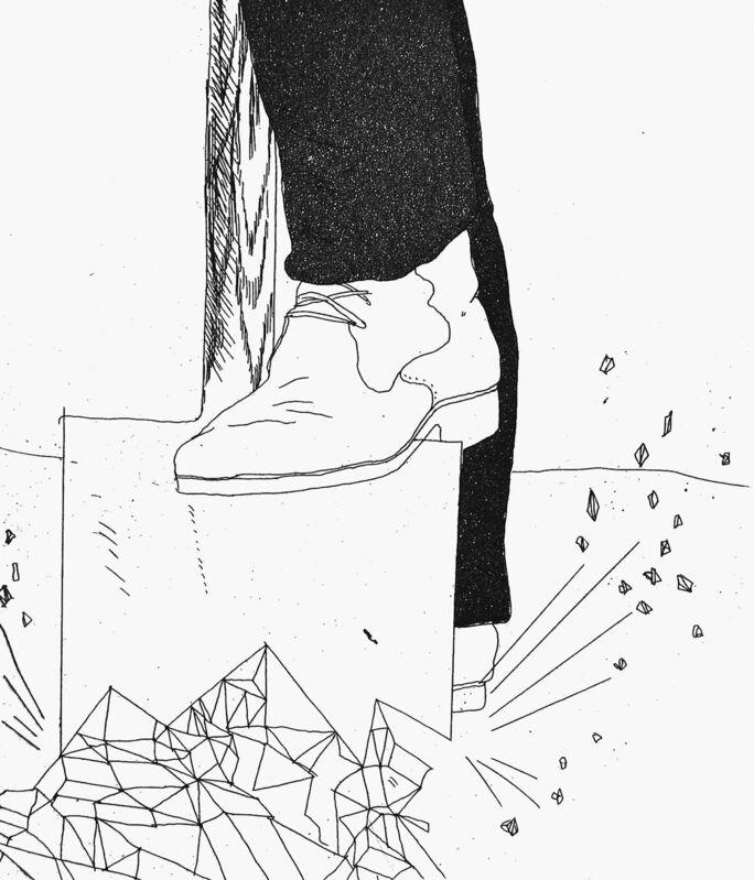 David Hockney, 'Digging up Glass', 1969, Print, Aquatint and etching, Goldmark Gallery