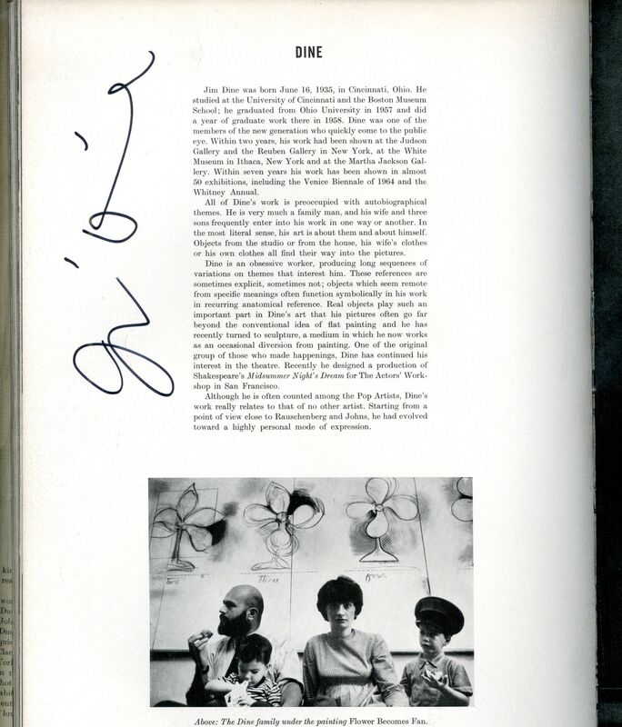 Jim Dine, 'New York: The New Art Scene (Hand Signed by Jim Dine, Larry Poons and Frank Stella)', 1967, Books and Portfolios, Hardback Monograph with illustrated dust jacket. Hand Signed by Frank Stella, Larry Poons and Jim Dine, Alpha 137 Gallery