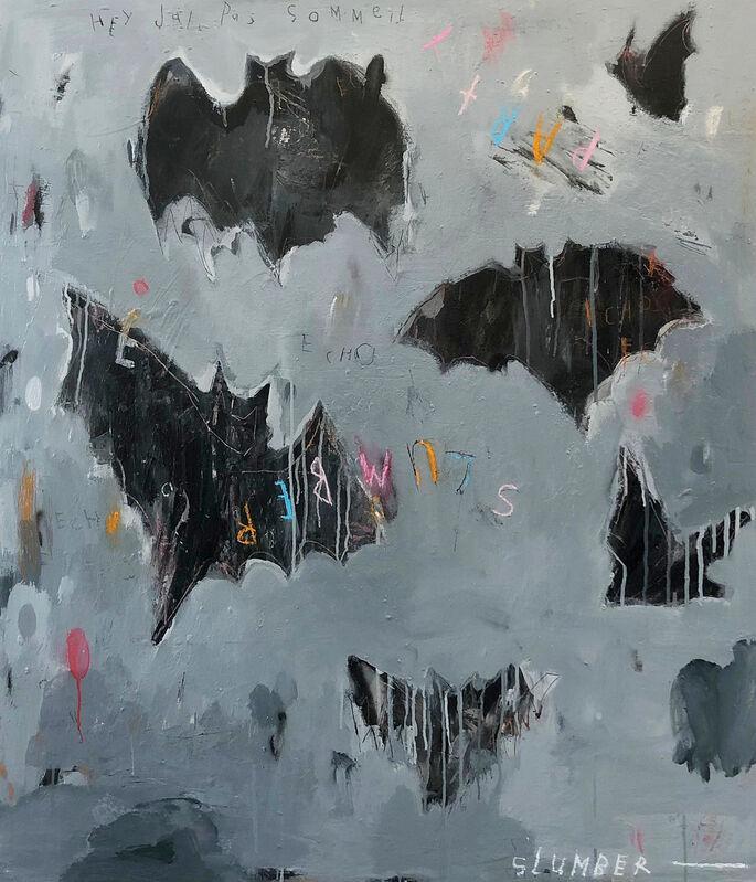 Gino Belassen, 'Slumber Party', 2020, Painting, Acrylic, Pastel, Spray Paint, Charcoal on Panel, Belhaus
