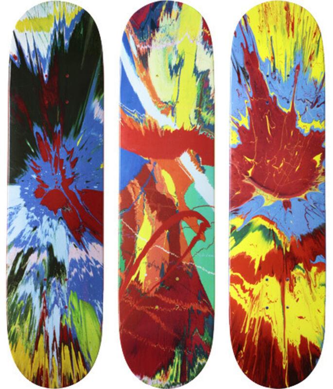 Damien Hirst, 'Supreme set of 3 Spin skateboards', 2009, Print, Screenprint on skateboard, EHC Fine Art