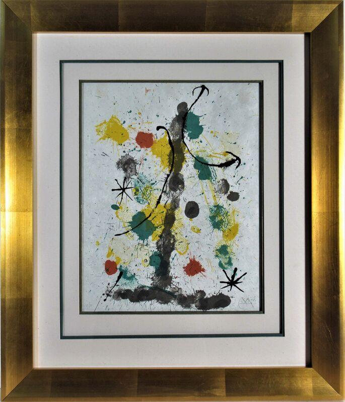 Joan Miró, 'Quelques Fleurs pour des Amis (A Few Flowers for Some Friends)', 1964, Print, Original color lithograph, Joseph Grossman Fine Art Gallery