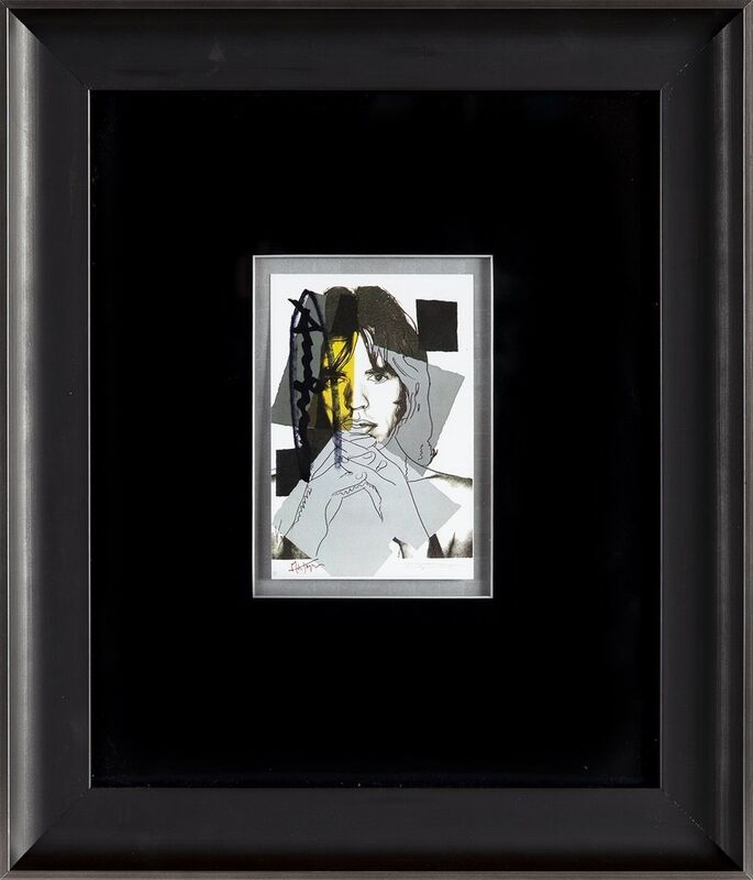 Andy Warhol, 'Andy Warhol  Mick Jagger FS.II.147 Hand Signed Gallery Announcement Invitation', 1970-2000, Drawing, Collage or other Work on Paper, Lithograph, Modern Artifact