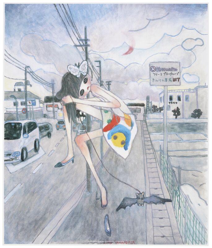 Aya Takano, 'A Night Walk- A Pink Moon Emerged', 2005, Print, Offset Print, Marcel Katz Art