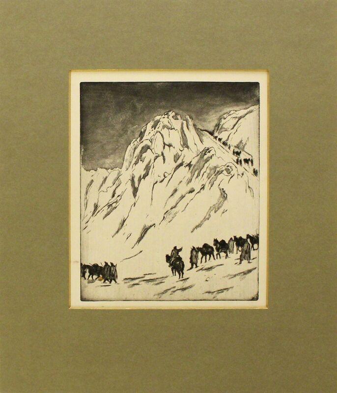 Emil Orlik, 'Austrian Munitions Column on Serbian Border', 1915, Print, Etching and aquatint, Sylvan Cole Gallery