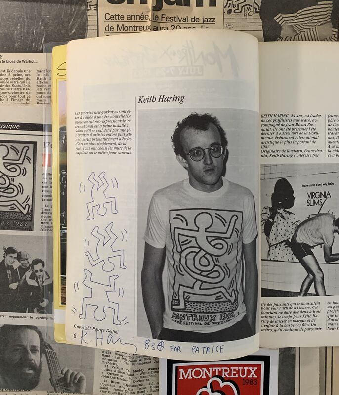 Keith Haring, 'Untitled ('Falling Men' - Montreux 1983)', 1983, Drawing, Collage or other Work on Paper, Pen, paper, Artificial Gallery