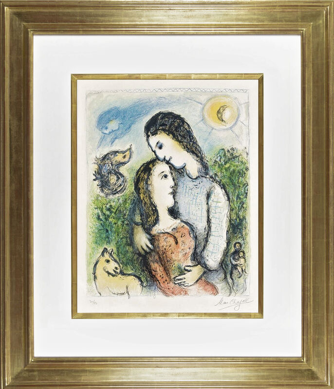 Marc Chagall, 'Les Adolescents', 1975, Print, Color lithograph on Arches wove paper, Galerie Michael