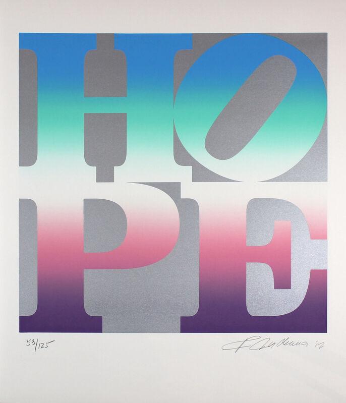 Robert Indiana, 'Hope (Silver, Blue, Turquoise, Pink, Purple)', 2012, Print, Screenprint on Coventry Rag Paper., Gormleys Fine Art