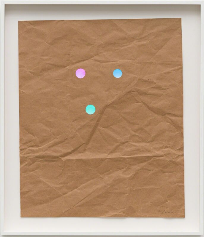 Stephen Dean, 'Juggler #6', 2013, Drawing, Collage or other Work on Paper, Kraft paper and dichroic glass [papel kraft e vidro dichroico], Casa Triângulo