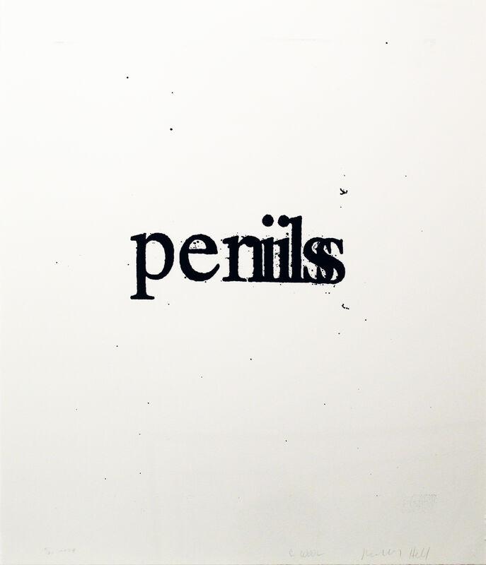 Christopher Wool, 'Perils Penils (from the Psychopts portfolio)', 2009, Print, Silkscreen, Taglialatella Galleries
