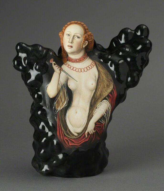 Kadri Pärnamets, 'Question of Honor —Lucretia, after Lucas Cranach the Elder', 2015, Sculpture, Ceramic, Ferrin Contemporary