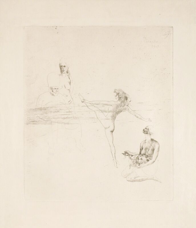 """Pablo Picasso, 'Salome from """"La Suite des Saltimbanques""""', 1905, Print, Drypoint, Odon Wagner Gallery"""