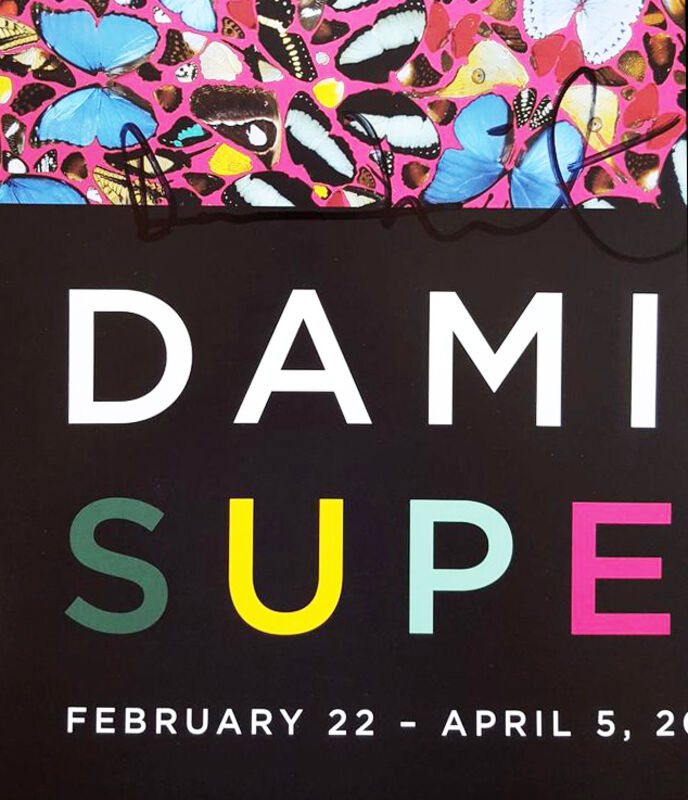 Damien Hirst, 'Superstition Signed Poster', 2007, Print, Offset Lithograph, Oliver Clatworthy Gallery Auction
