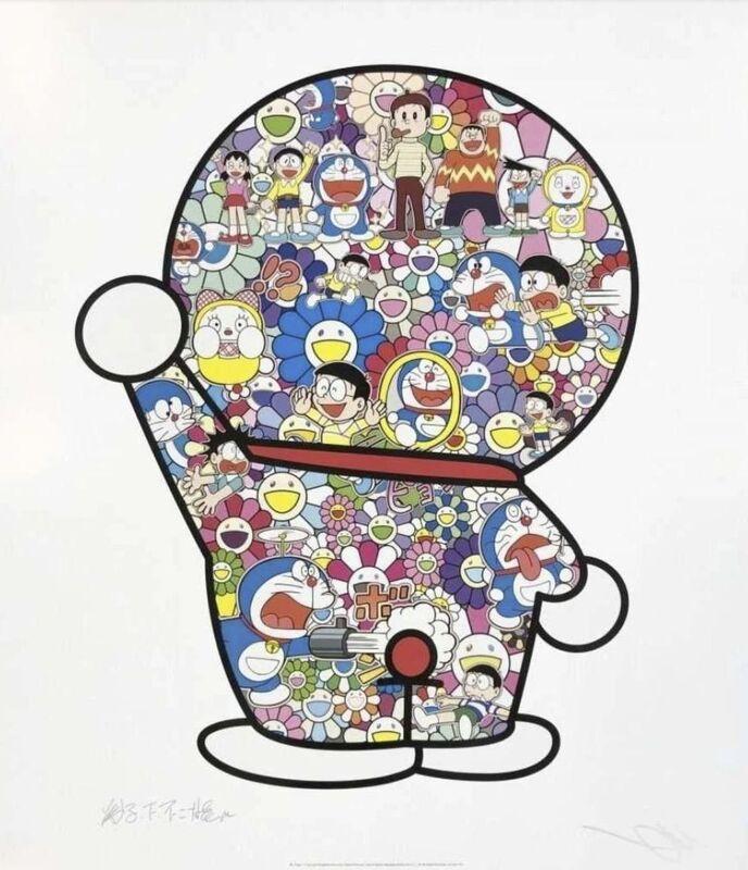 Takashi Murakami, 'Mr. Fujiko F. Fujio and Doraemon Are in the Field of Flowers', 2019, Print, Offset print, Lougher Contemporary