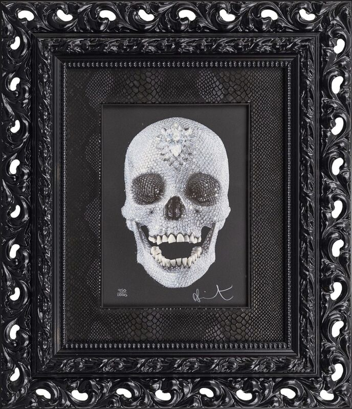 Damien Hirst, 'FOR THE LOVE OF GOD', 2009, Drawing, Collage or other Work on Paper, Limited edition silkscreen with glazes and diamond dust, Gutan Art Gallery