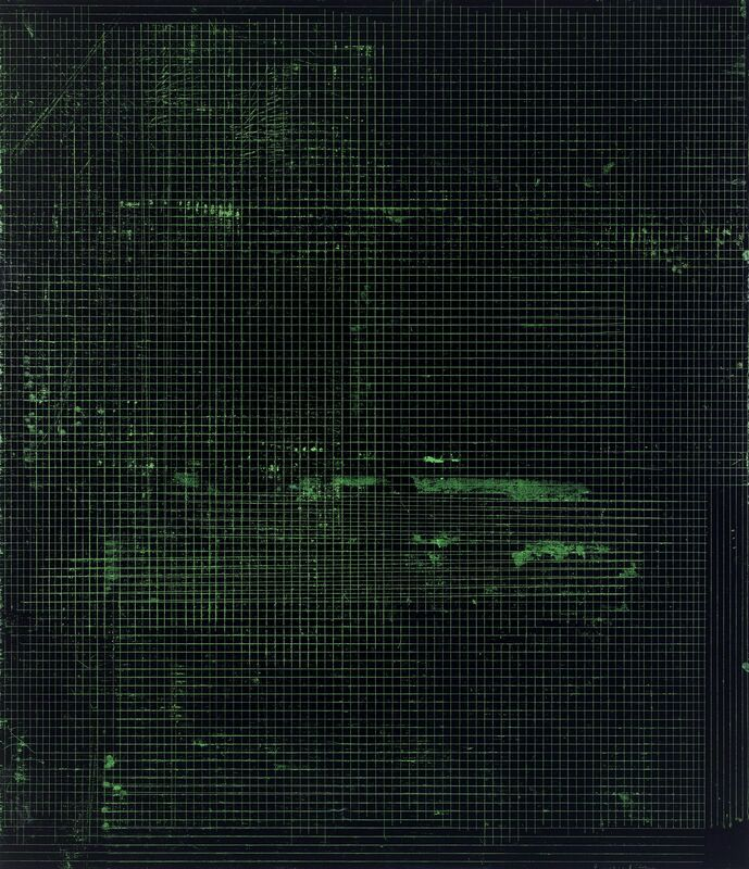 Kate Shepherd, 'Night in Black and Green', 2016, Painting, Etching ink and enamel on wood panel, Anthony Meier Fine Arts