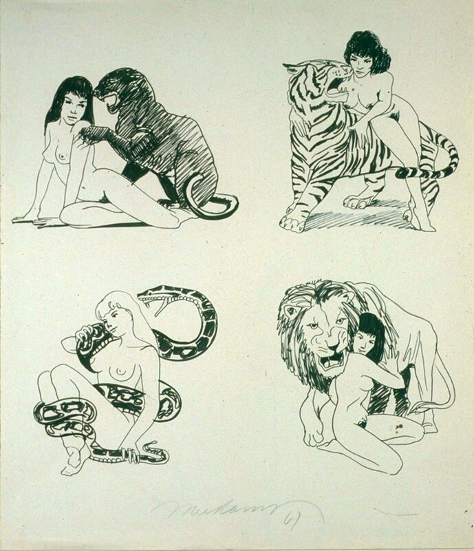 Mel Ramos, 'Decal Project', 1967, Drawing, Collage or other Work on Paper, Graphite on paper, Modernism Inc.